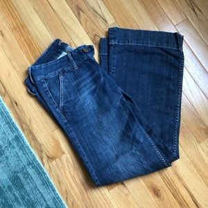 American Eagle wide leg faded jeans